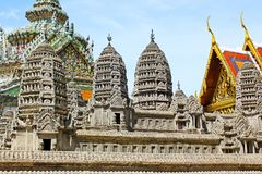 Angkor Wat Model In Grand Palace, Banguecoque, Tailândia fotos de stock royalty free