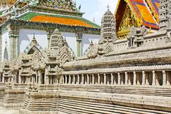 Angkor Wat Model In Grand Palace, Banguecoque, Tailândia fotos de stock