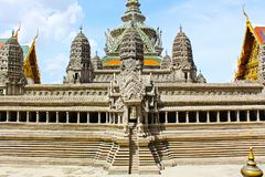 Angkor Wat Model In Grand Palace, Banguecoque, Tailândia imagem de stock