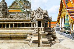Angkor Wat Model In Grand Palace, Banguecoque, Tailândia fotografia de stock royalty free