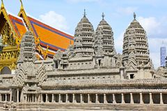 Angkor Wat Model In Grand Palace, Banguecoque, Tailândia foto de stock royalty free