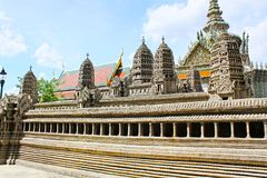 Angkor Wat Model In Grand Palace, Banguecoque, Tailândia foto de stock