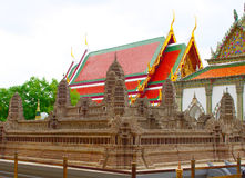 Angkor Wat Modell Der Tempel Emerald Buddhas oder des Wat Phra Kaews, großartiger Palast, Bangkok Stockfotos