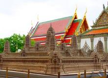 Angkor Wat modell Templet av Emerald Buddha eller Wat Phra Kaew, storslagen slott, Bangkok Arkivfoton