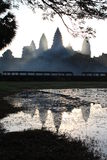 Angkor Wat in the morning mist Royalty Free Stock Photography