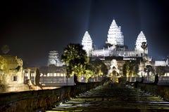 Angkor Wat nachts stockfoto