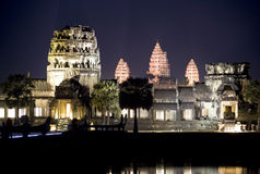 Angkor Wat at Night Stock Photography