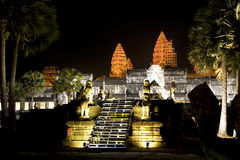 Angkor Wat at Night Royalty Free Stock Photography