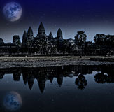Angkor wat night, Siem reap, Cambodia, UNESCO World Heritage. Stock Images