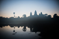 Angkor Wat From North Pond Royalty Free Stock Photo