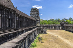Angkor Wat, open separation compound between level Royalty Free Stock Photography