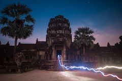Angkor Wat Oude Architectuur Stock Foto's