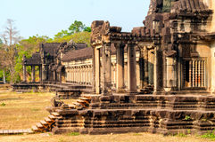 Angkor Wat outer gallery Royalty Free Stock Images