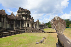 Angkor Wat outer wall Royalty Free Stock Photo