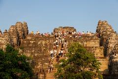 Angkor Wat from Phnom Bakheng at sunset, Cambodia Stock Photo