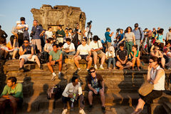 Angkor Wat from Phnom Bakheng at sunset, Cambodia Stock Image