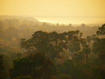 Angkor Wat from Phnom Bakheng at sunset, Cambodia Royalty Free Stock Images