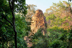 Angkor Wat from Phnom Bakheng at sunset, Cambodia Stock Photography