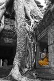 Angkor Wat Prayer Stock Image
