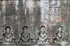 Angkor Wat -PreahKhan temple Stock Images
