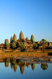 Angkor Wat Reflectetion. Angkor Wat temple near Siem Reap in Cambodia stock photo