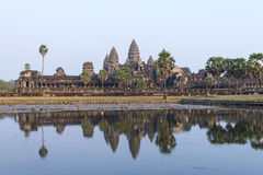Angkor Wat and reflecting lake in sunset, Siem Reap, Cambodia Stock Photography