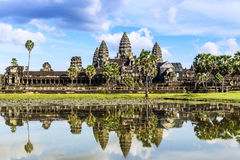 Angkor Wat. With the reflection stock images