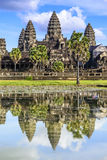 Angkor Wat. The reflection of Angkor Wat royalty free stock photo