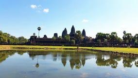 Angkor Wat , reflection, Siem Reap Cambodia Royalty Free Stock Photo