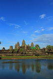 Angkor wat reflection on the water Stock Images