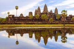 Angkor Wat Reflexion Lizenzfreie Stockfotografie