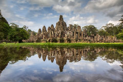 Angkor Wat with reflextion Stock Images