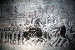 Angkor wat relief Stock Image