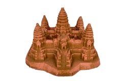 Angkor Wat replica with clipping path. Cambodia's famous Angkor Wat replica with clipping path Stock Images