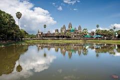 Angkor Wat restoration Stock Images