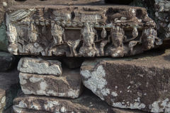 Angkor Wat Ruinen im Dschungel stockfoto