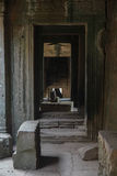 Angkor Wat Ruinen im Dschungel lizenzfreies stockfoto