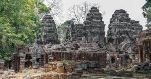 Angkor Wat ruins in the jungle. Royalty Free Stock Photo