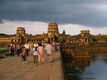Angkor Wat, Siem oogst Stock Afbeeldingen
