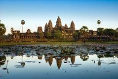 Angkor Wat, Siem oogst, Kambodja. Stock Afbeelding