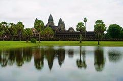 Angkor Wat, Siem oogst, Kambodja Grootste godsdienstig monument in wereld 162 6 hectaren stock foto's