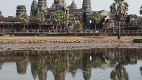 Angkor wat , Siem reap, Cambodia, stock video footage