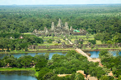 Angkor wat siem reap cambodia kingdom of wonder. Angkor Wat, the largest monument of the Angkor group and the Stock Photography