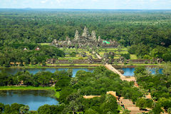 Angkor wat siem reap cambodia kingdom of wonder. Angkor Wat, the largest monument of the Angkor group and the Stock Image