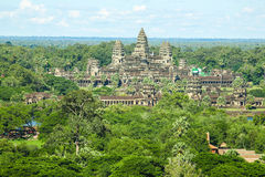 Angkor wat siem reap cambodia kingdom of wonder. Angkor Wat, the largest monument of the Angkor group and the Royalty Free Stock Photo