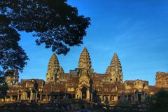 Angkor Wat - Siem Reap, Cambogia Immagini Stock Libere da Diritti