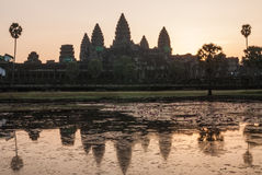 Angkor Wat, Siemreap, Cambodia. Angkor Wat is a temple complex in Cambodia and the largest religious monument in the world royalty free stock image
