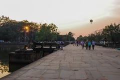 Angkor Wat Siemreap, Cambodja Arkivbild