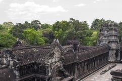 Angkor Wat sikt från den 3rd nivån Fotografering för Bildbyråer