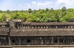 Angkor Wat sikt från den 3rd nivån Royaltyfria Foton